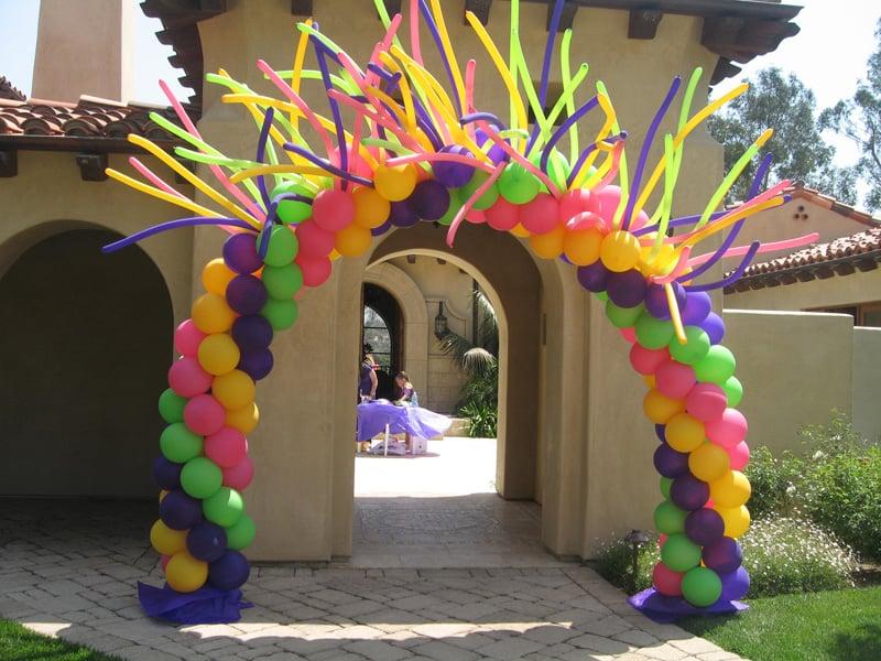 arco de globos para fiesta infantil